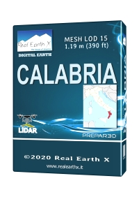 REAL EARTH X - CALABRIA MESH LOD 14 P3D5