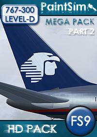 PAINTSIM - UHD MEGA TEXTURE PACK (PART 2) FOR LEVEL-D BOEING 767-300ER FS2004