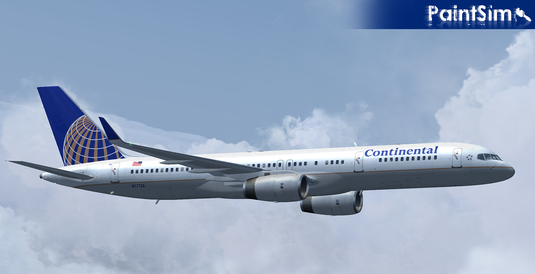 PAINTSIM - HD TEXTURE PACK 3 FOR CAPTAIN SIM BOEING 757-200 FS2004