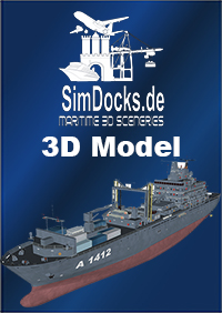 "SIMDOCKS.DE - 3D MODEL GERMAN TASK FORCE SUPPLIER ""FRANKFURT"""