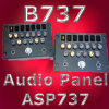 CP FLIGHT - B737 AUDIO SELECTION PANEL CP & FO ASP737