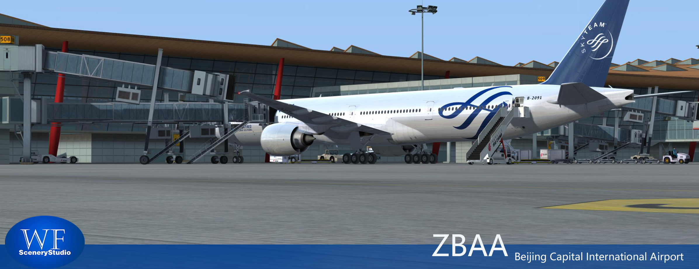 WF SCENERY STUDIO - BEIJING CAPITAL INTERNATIONAL AIRPORT ZBAA P3D4