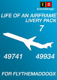ERMAKDESIGN - LIFE OF AN AIRFRAME LIVERY PACK 7 FOR FLYTHEMADDOGX P3D4