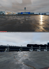 SIMMADDONS -  DYNAMIC LIGHT AND WET RAIN EFFECT PBR -TJSJ AND SABE P3D4-5