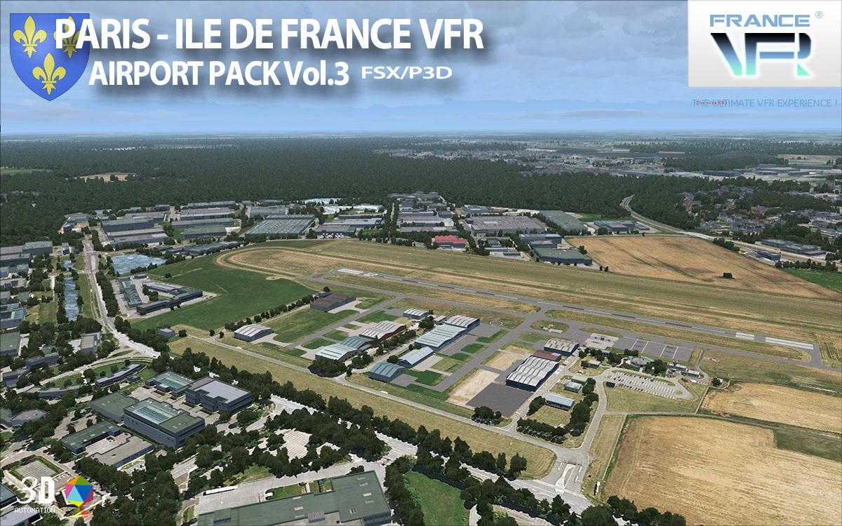 FRANCEVFR - PARIS - ILE DE FRANCE VFR - AIRPORT PACK VOL3 FSX