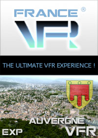 FRANCE VFR - AUVERGNE VFR 3DA EXTENSION PACK P3D V5/V4