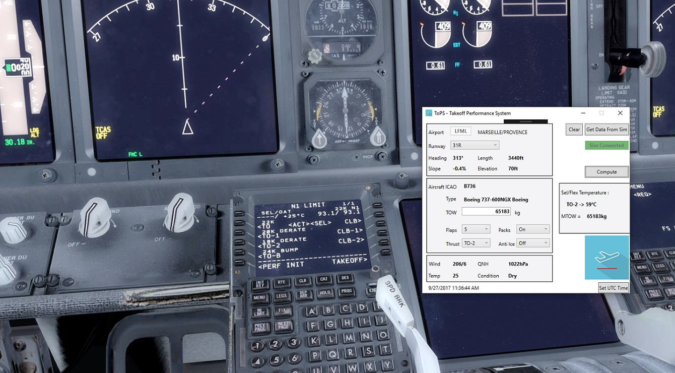 TOPS - TAKEOFF PERFORMANCE SYSTEM FSX P3D
