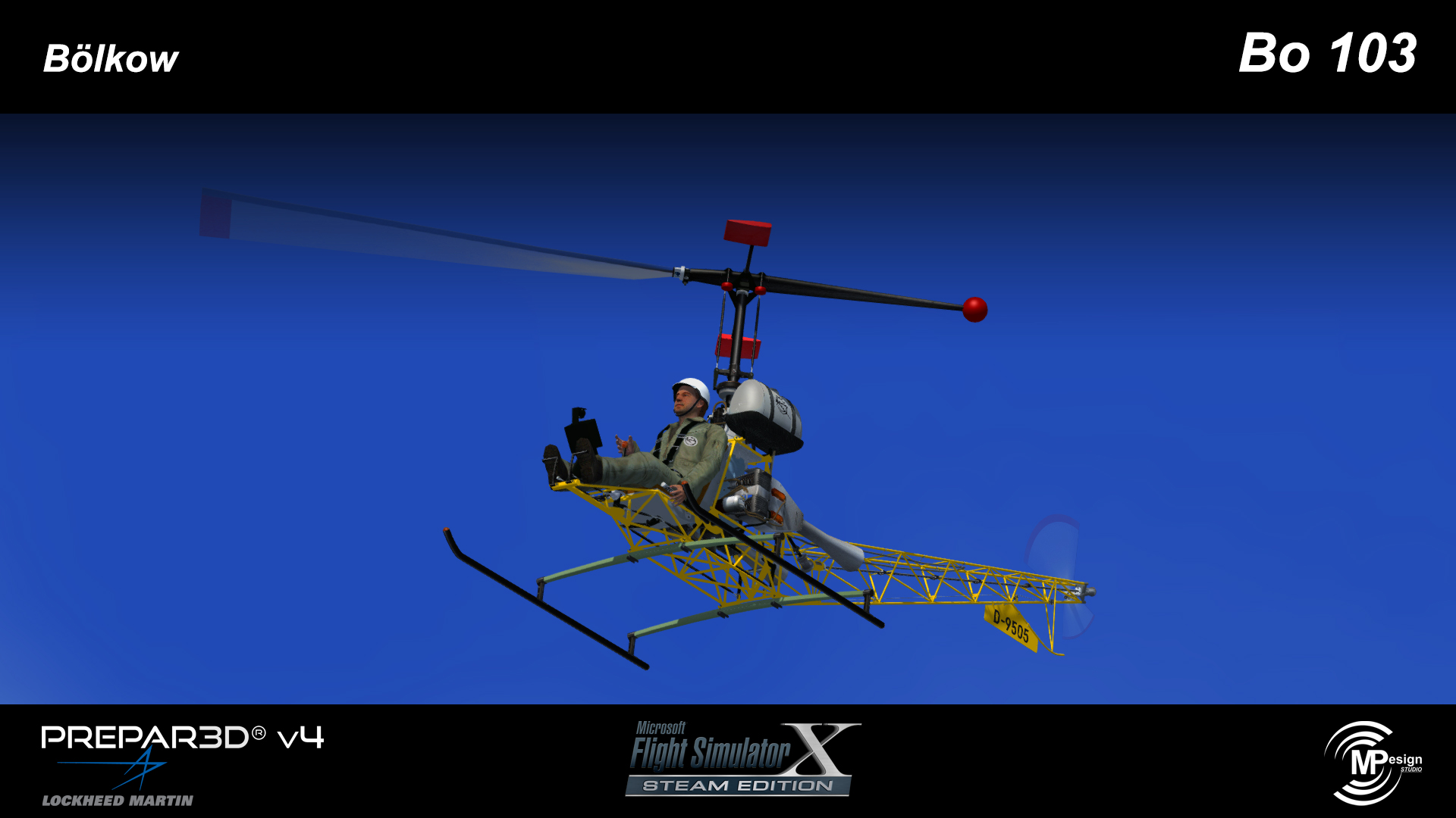 MP DESIGN STUDIO - BOLKOW BO 103 FSX P3D