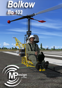MP DESIGN STUDIO - BOLKOW BO 103 直升飞机 FSX P3D