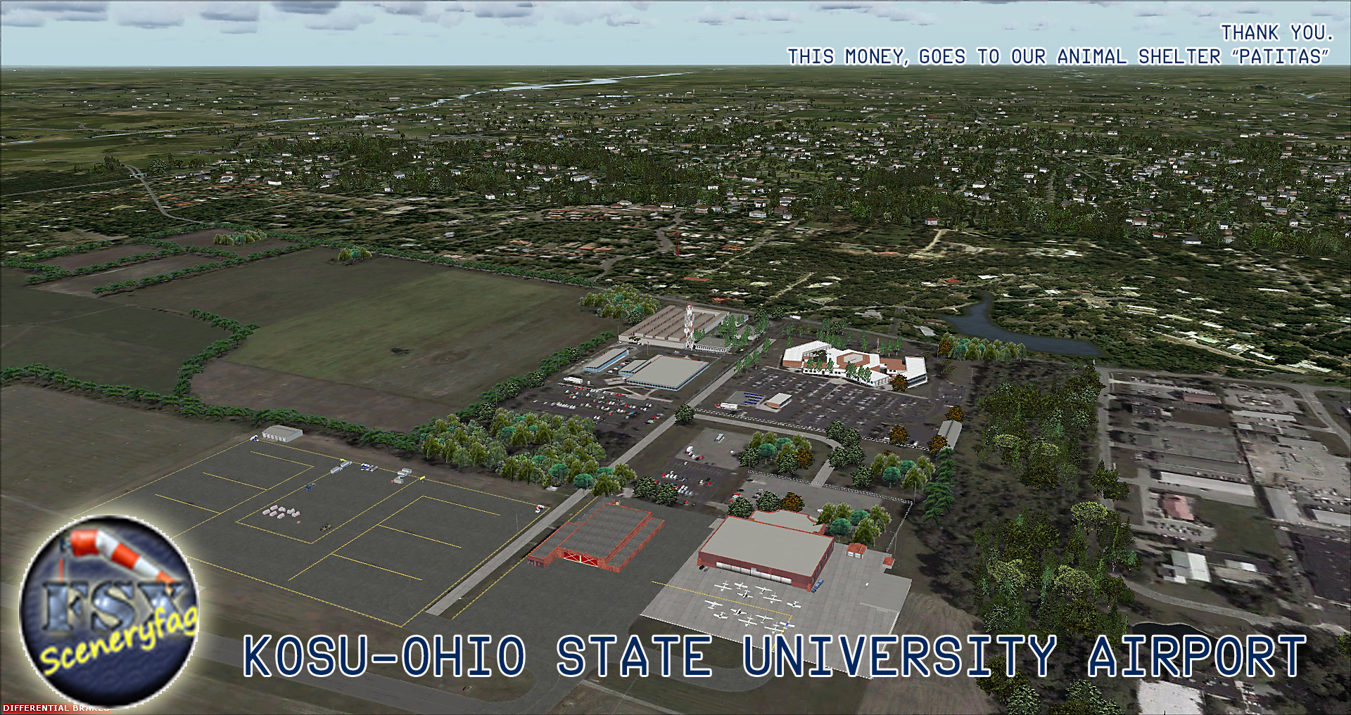 FSXCENERY - KOSU OHIO STATE UNIVERSITY AIRPORT FSX