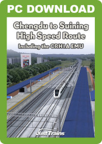 JUSTTRAINS - CHENGDU TO SUINING HIGH SPEED ROUTE (INCLUDES CRH1A EMU)