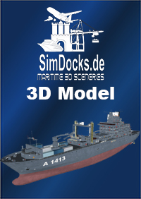 "SIMDOCKS.DE - 3D MODEL GERMAN TASK FORCE SUPPLIER ""BERLIN"""