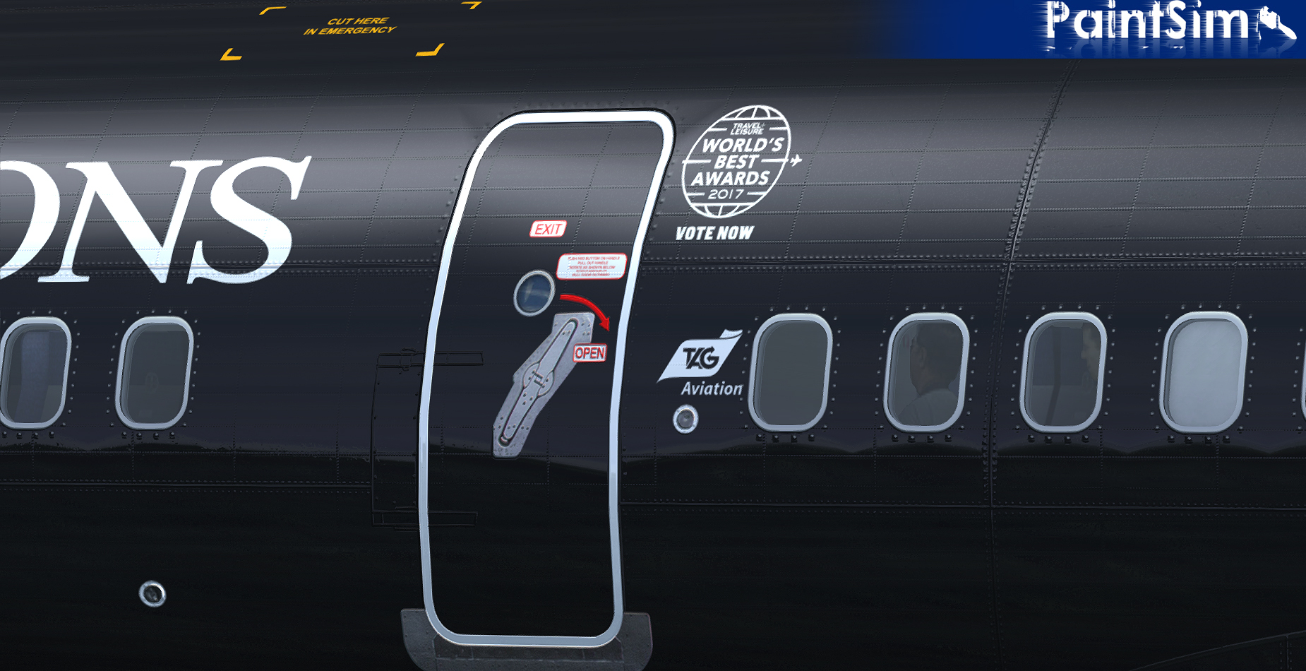 PAINTSIM - UHD TEXTURE PACK 6 FOR CAPTAIN SIM BOEING 757-200 III FSX P3D
