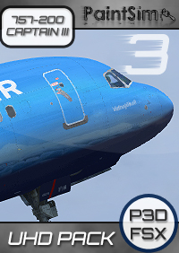 PAINTSIM - UHD TEXTURE PACK 3 FOR CAPTAIN SIM BOEING 757-200 III FSX P3D