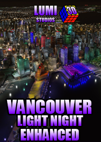 LUMI 3D STUDIOS - VANCOUVER NIGHT LIGHT ENHANCED MSFS