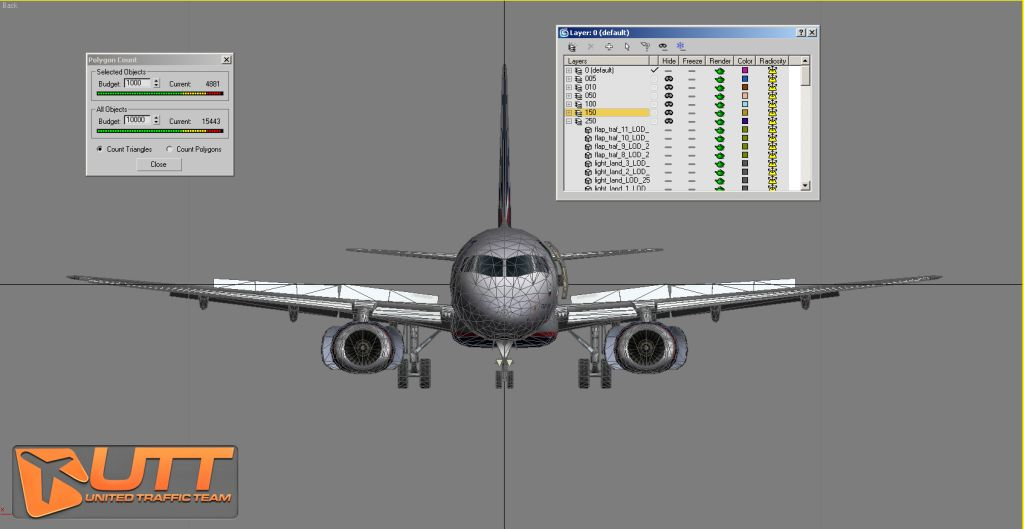 UTT - SUKHOI SUPERJET 100 SOURCE MODEL FOR 3DS MAX