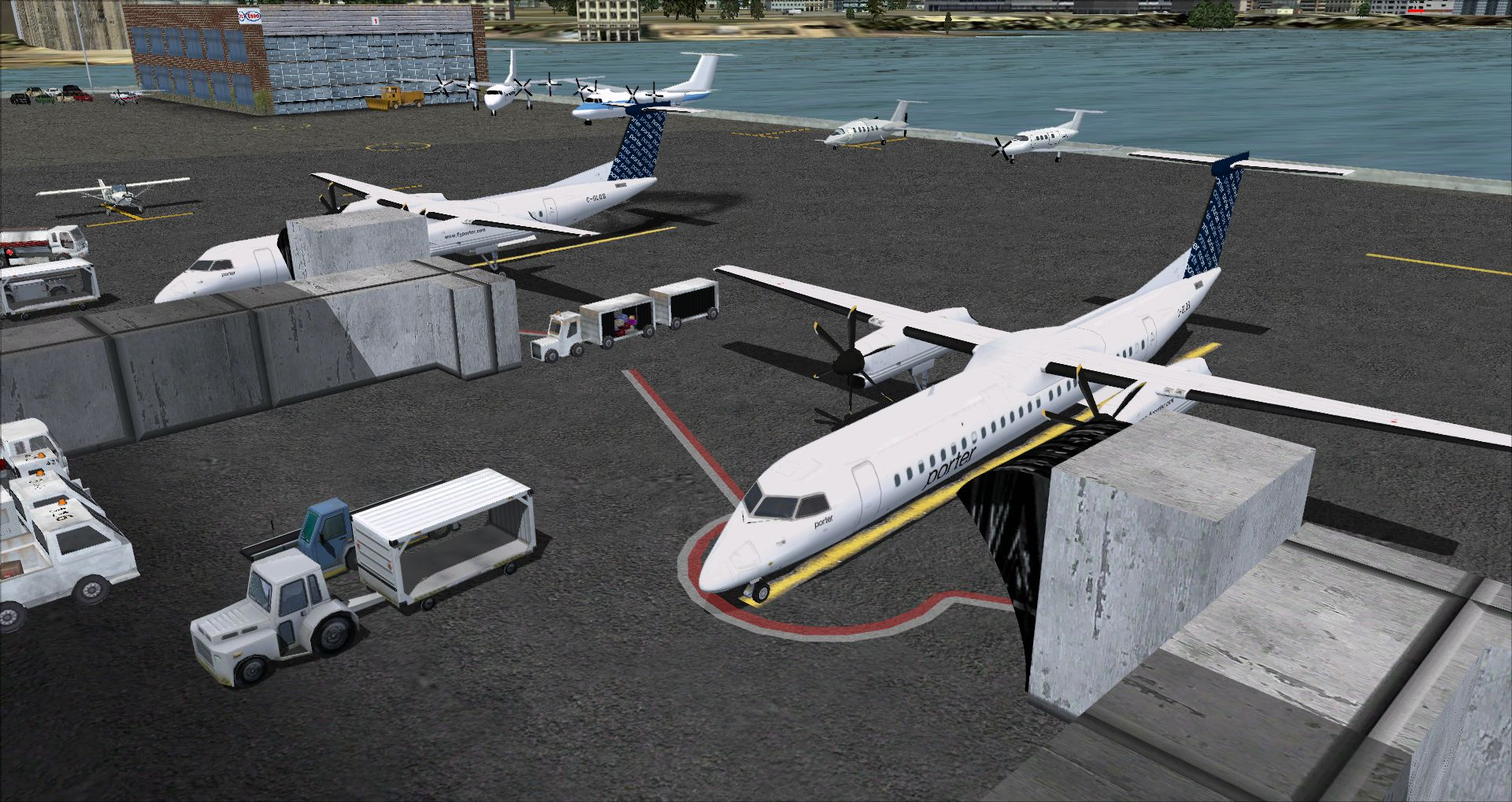 FINAL APPROACH SIMULATIONS - CYTZ TORONTO CITY AIRPORT FSX