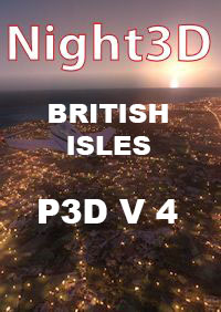 TABURET - FSX P3D NIGHT 3D BRITISH ISLES