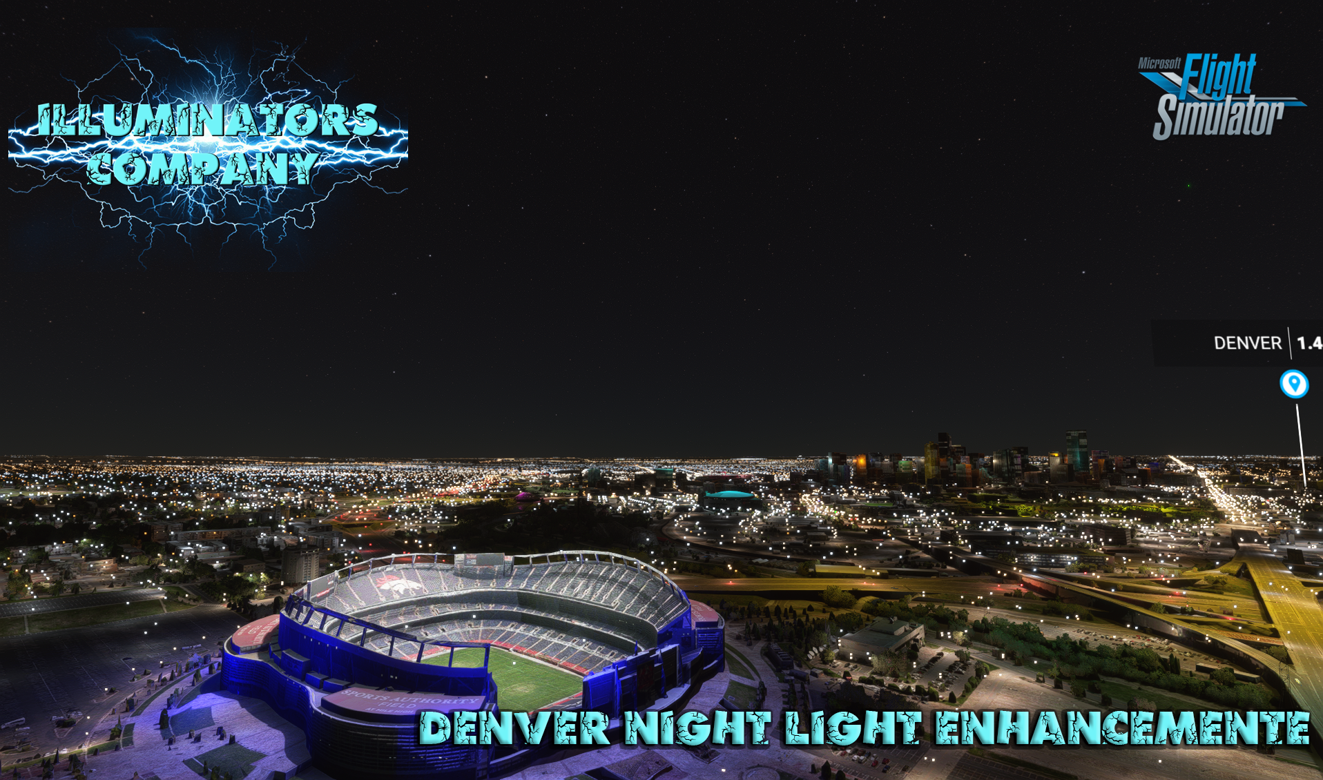 ILLUMINATORS - DENVER (USA) NIGHT LIGHT ENHANCED MSFS