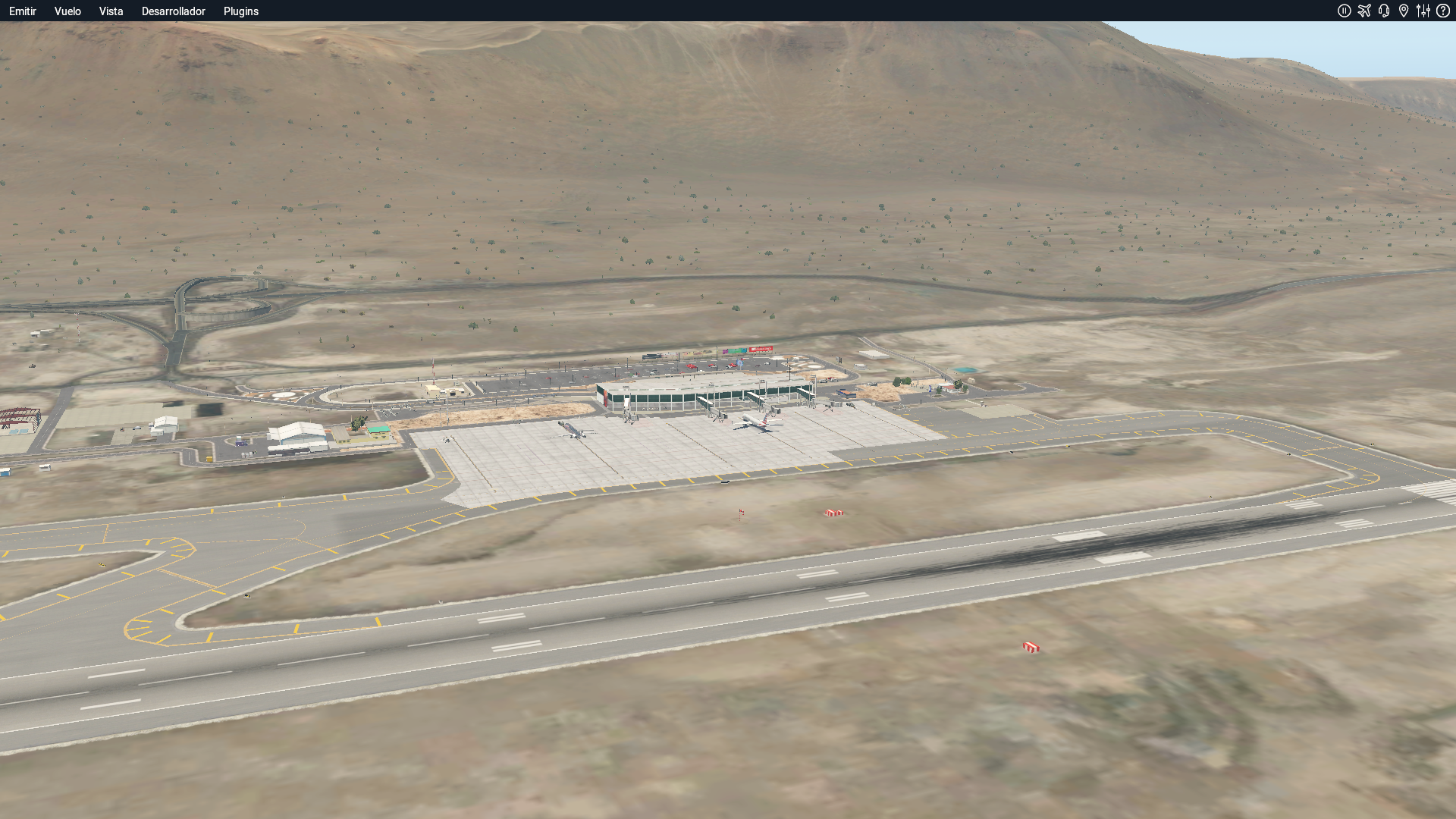 CHILE AIRPORTS 3D - SCDA, DIEGO ARACENA INTERNATIONAL AIRPORT, IQUIQUE, CHILE, X-PLANE11