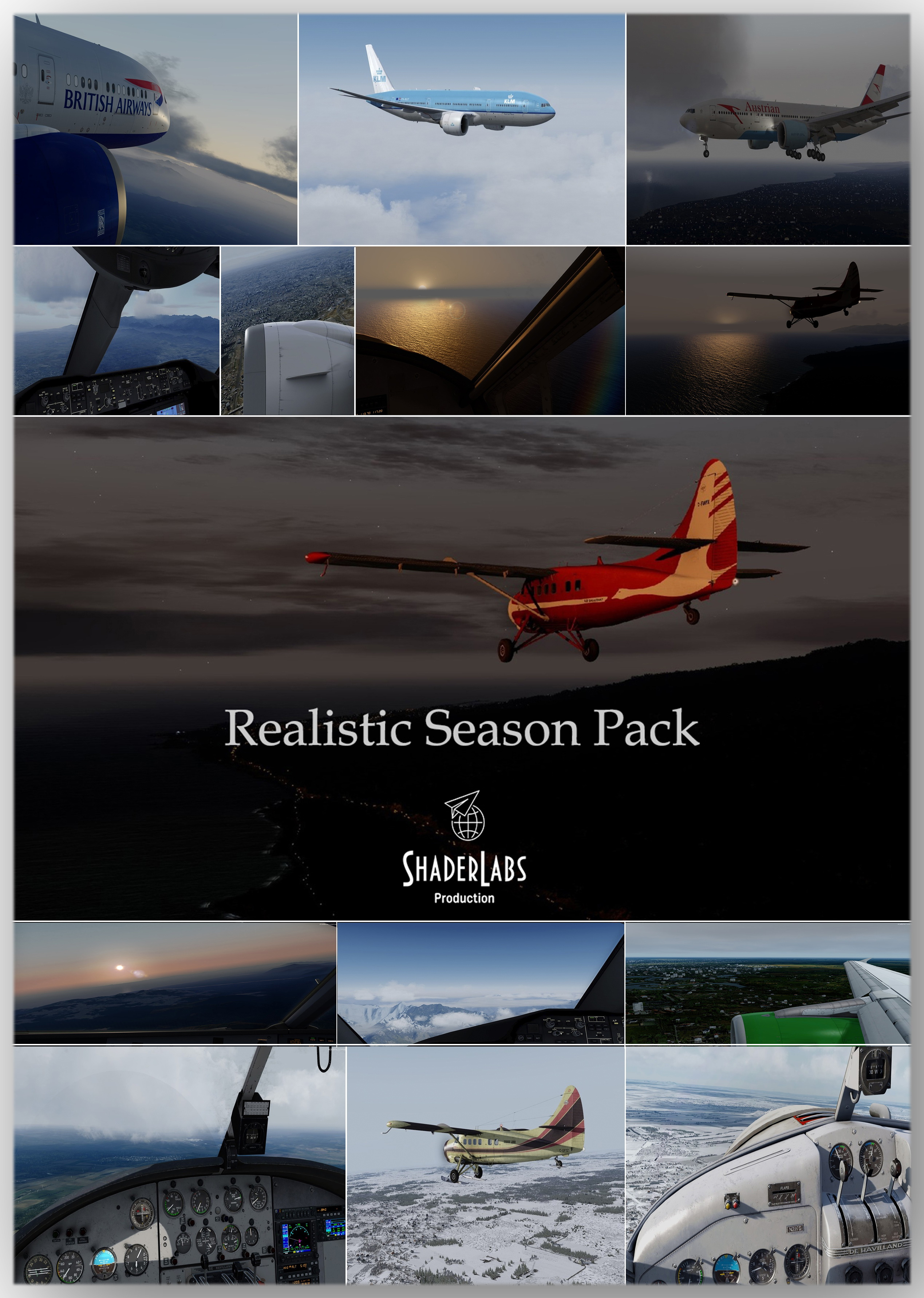 SHADERLABS PRODUCTION - REALISTIC SEASON PACK P3D 4.4-4.5