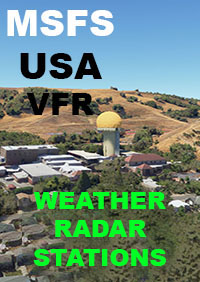 TABURET - USA VFR WEATHER RADAR STATIONS MSFS