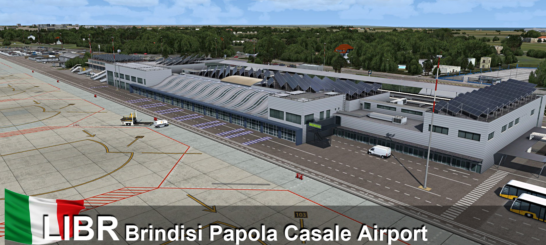 RFSCENERYBUILDING - LIBR BRINDISI PAPOLA CASALE FSX P3D