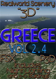 REALWORLD SCENERY - REALWORLD SCENERY GREECE 3D VOL.2.4 FSX P3D