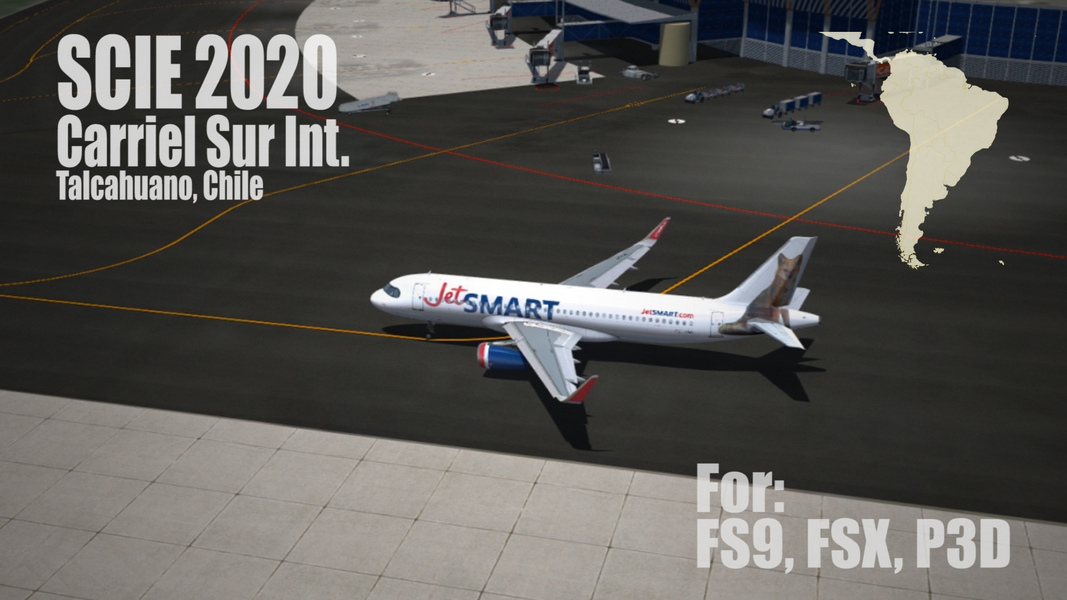 FLIGHTSIMDESIGN CHILE - SCIE 2020 CARRIEL SUR INT. AIRPORT CONCEPCION CHILE FSX P3D FS2004