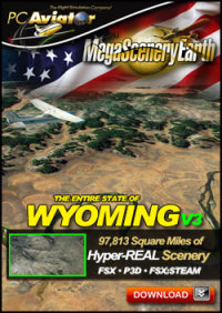 PC AVIATOR - MEGASCENERY EARTH V3 - WYOMING FSX P3D