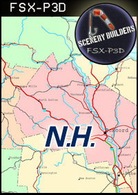 FSXCENERY -   1ST NEW HAMPSHIRE REGIONAL AIRPORTS PACK (4) FSX P3D