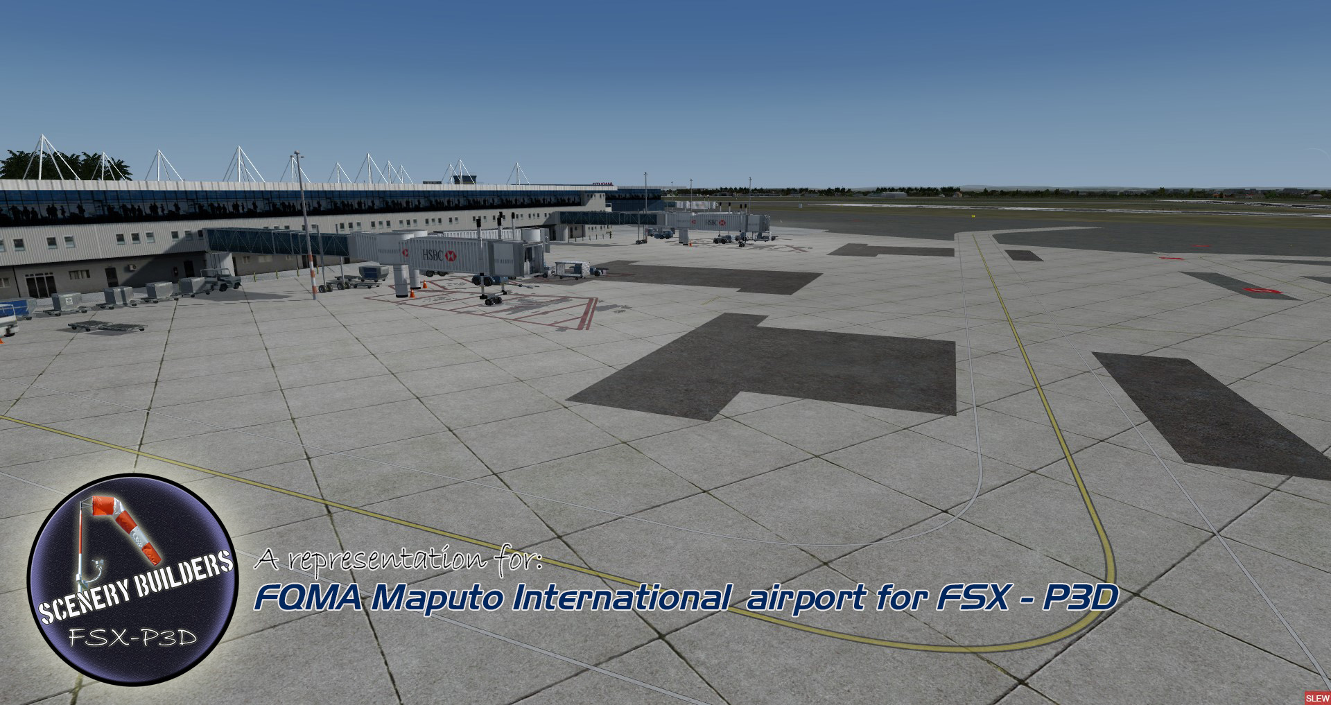FSXCENERY - FQMA MAPUTO INTERNATIONAL AIRPORT FSX P3D