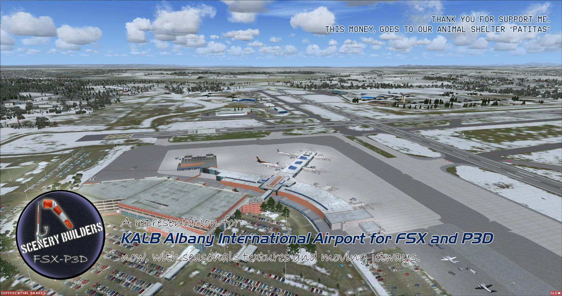 FSXCENERY -   KALB ALBANY INTERNATIONAL AIRPORT FSX P3D