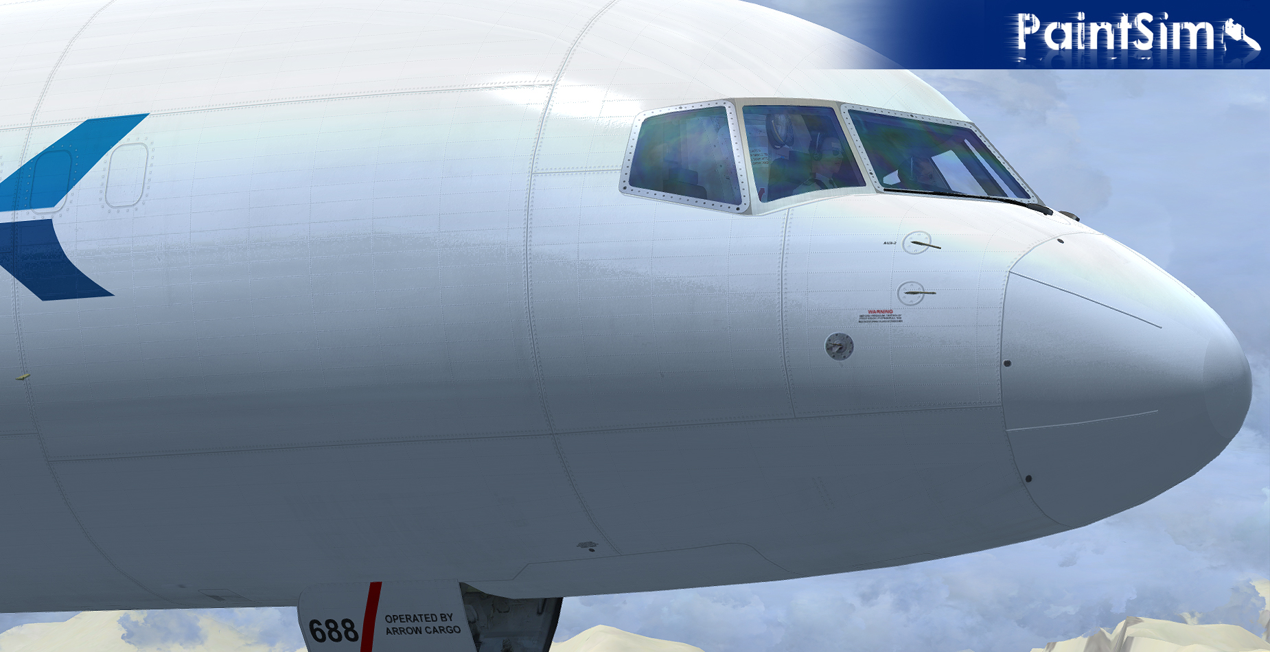 PAINTSIM - UHD TEXTURE PACK 2 FOR CAPTAIN SIM BOEING 757-200 CARGO III FSX P3D