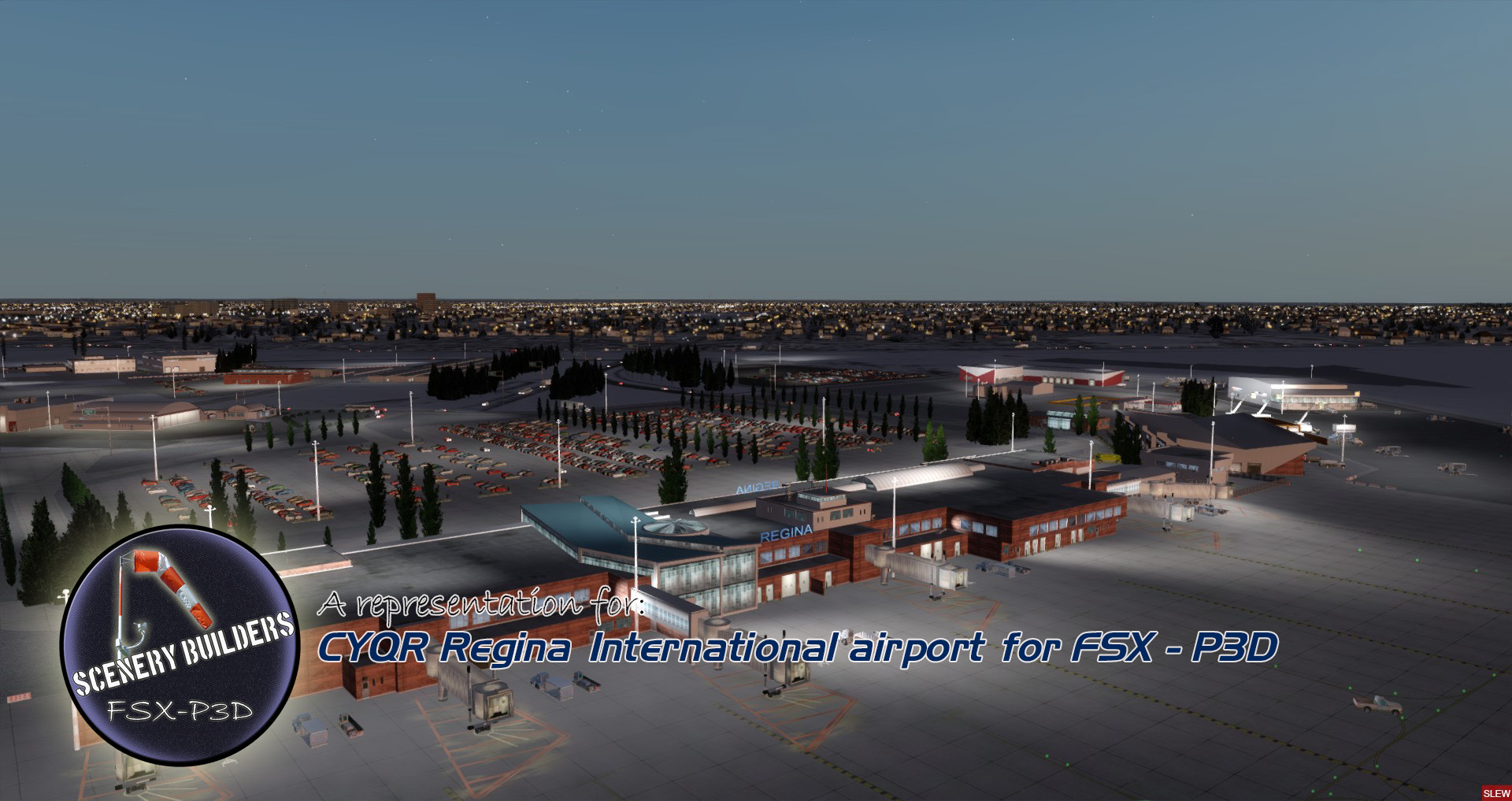 FSXCENERY - CYQR REGINA INTERNATIONAL AIRPORT FSX P3D