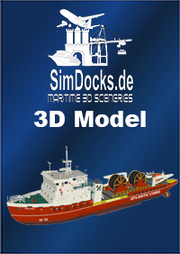 "SIMDOCKS.DE - SIMDOCKS 3D MODEL COASTEL CABLE SHIP ""NICOLA TESLA"""