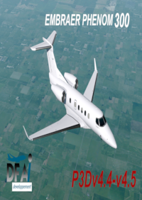 DFAI DEVELOPPEMENT - EMBRAER PHENOM 300 (FOR AI TRAFFIC USE) P3DV4