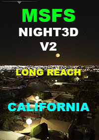 TABURET - NIGHT 3D CALIFORNIA - V2.1 MSFS