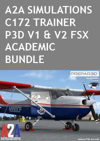 A2A SIMULATIONS - C172 TRAINER FSX P3D ACADEMIC BUNDLE