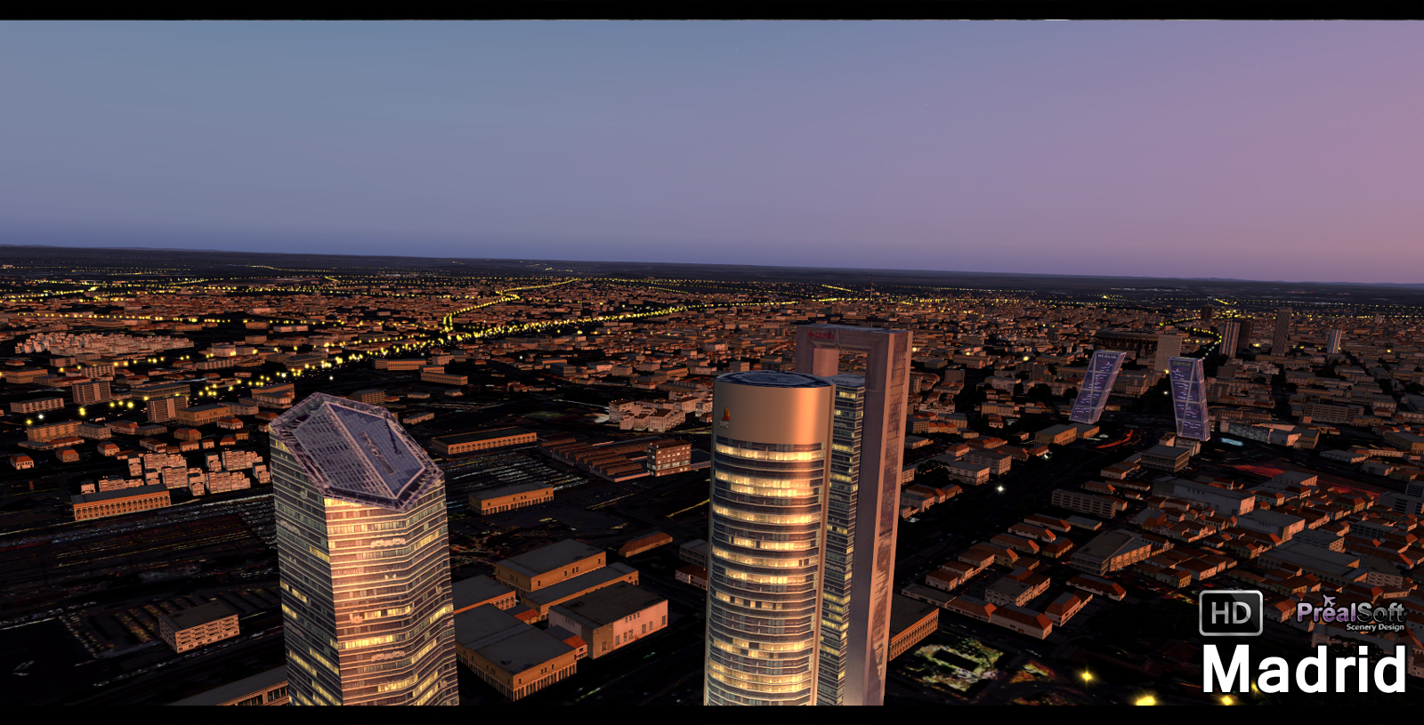 PREALSOFT - HD CITIES - MADRID - AUTOGEN 3D OBJ P3D V4