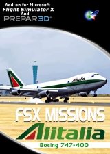 PERFECT FLIGHT - FSX MISSIONS ALITALIA B747-400 FSX P3D