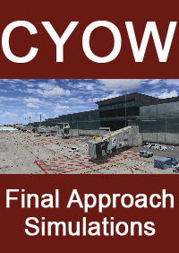 FINAL APPROACH SIMULATIONS - CYOW OTTAWA/MACDONALD-CARTIER INTERNATIONAL AIRPORT FOR FSX