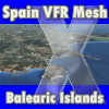 FSSIMVFR - SPAIN VFR MESH - BALEARIC ISLANDS FSX