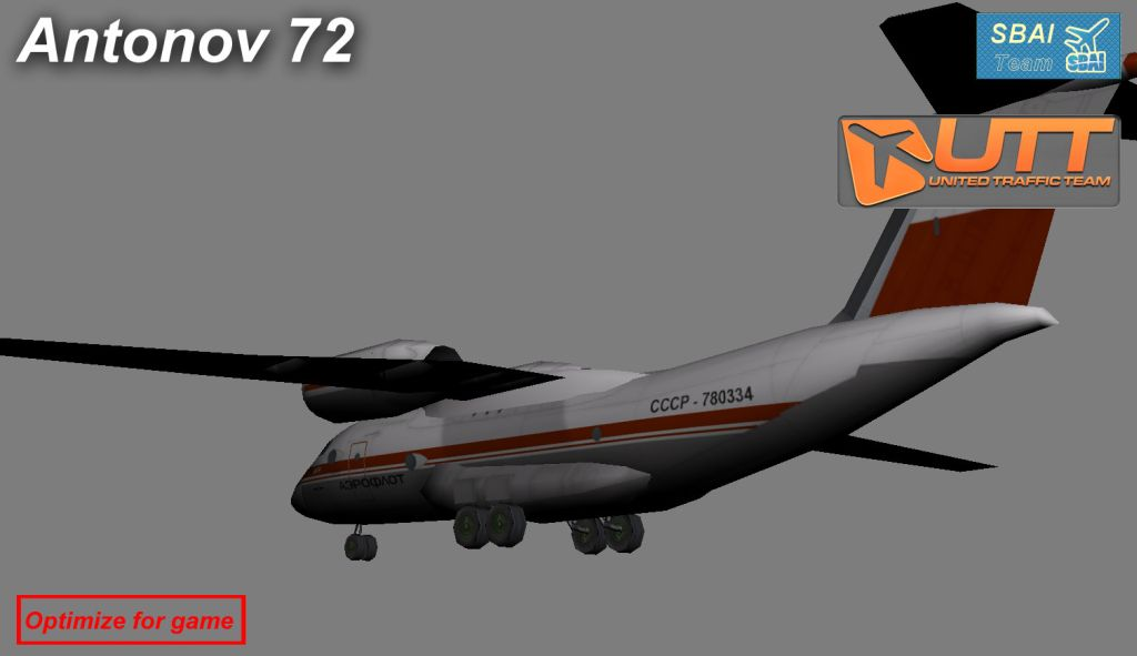 UTT - ANTONOV BUREAU AN-72 SOURCE MODEL FOR 3DS MAX
