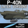 FLIGHT REPLICAS - CURTISS P-40N WARHAWK / KITTYHAWK IV LATER VERSIONS FOR FSX