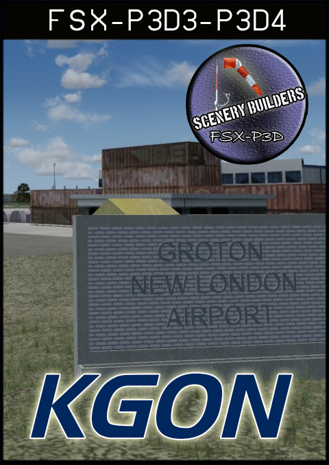 FSXCENERY -   KGON GROTON NEW LONDON AIRPORT FSX P3D