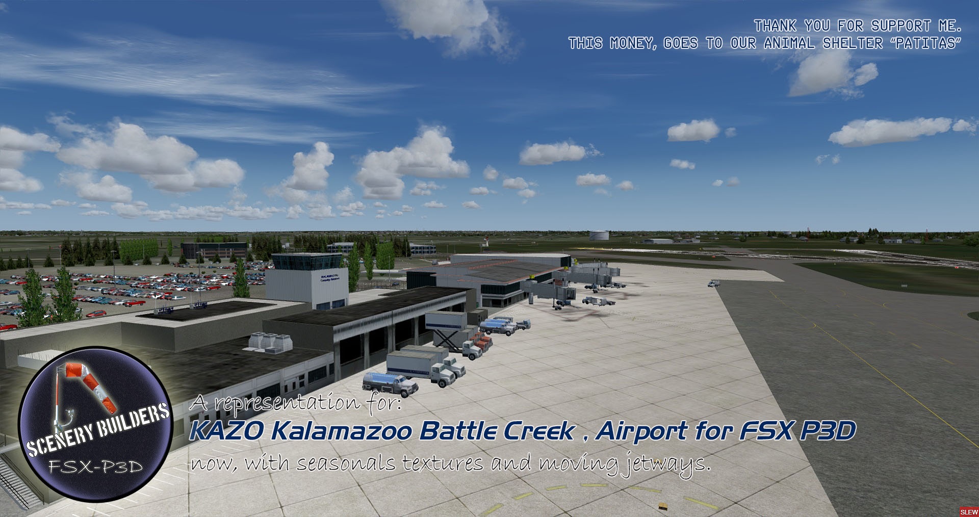 FSXCENERY - KAZO KALAMAZOO BATTLE CREEK INTERNATIONAL AIRPORT FSX P3D