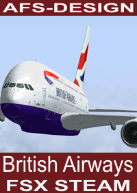 AFS-DESIGN - BRITISH AIRWAYS AIRBUS V2 FSX-STEAM