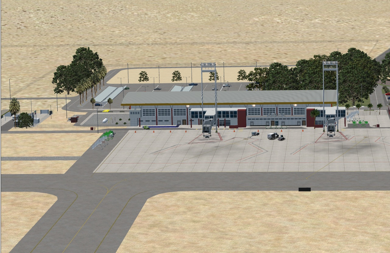 CHILE AIRPORTS 3D - CHACALLUTA AIRPORT SCAR P3D