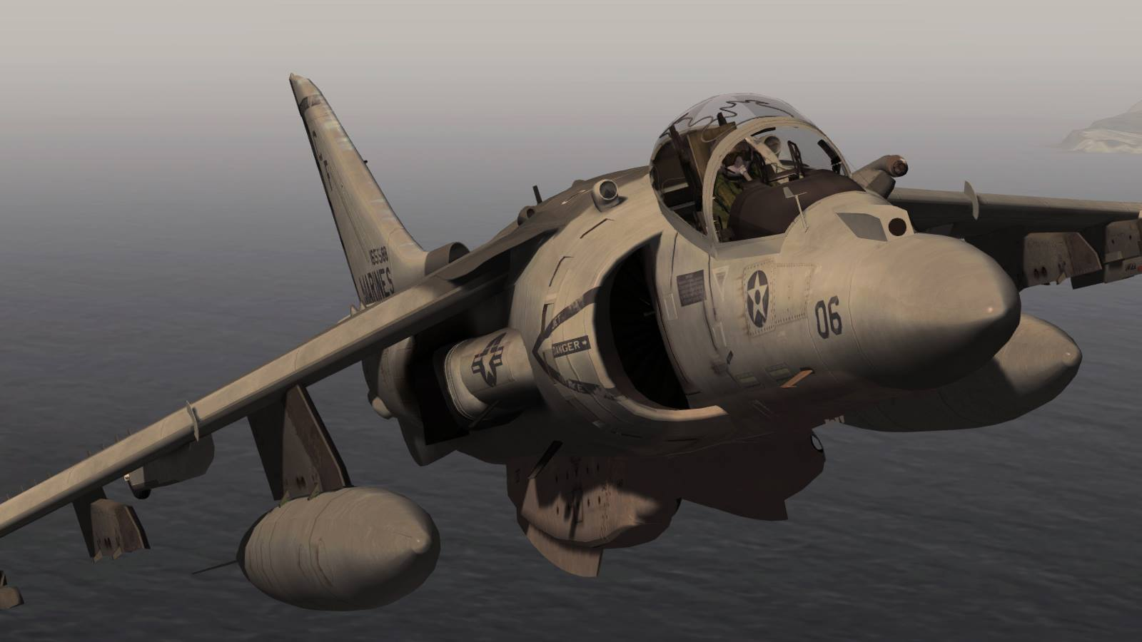 SIM SKUNK WORKS - MCDONNEL DOUGLAS AV8B II HARRIER FOR P3D V4.X